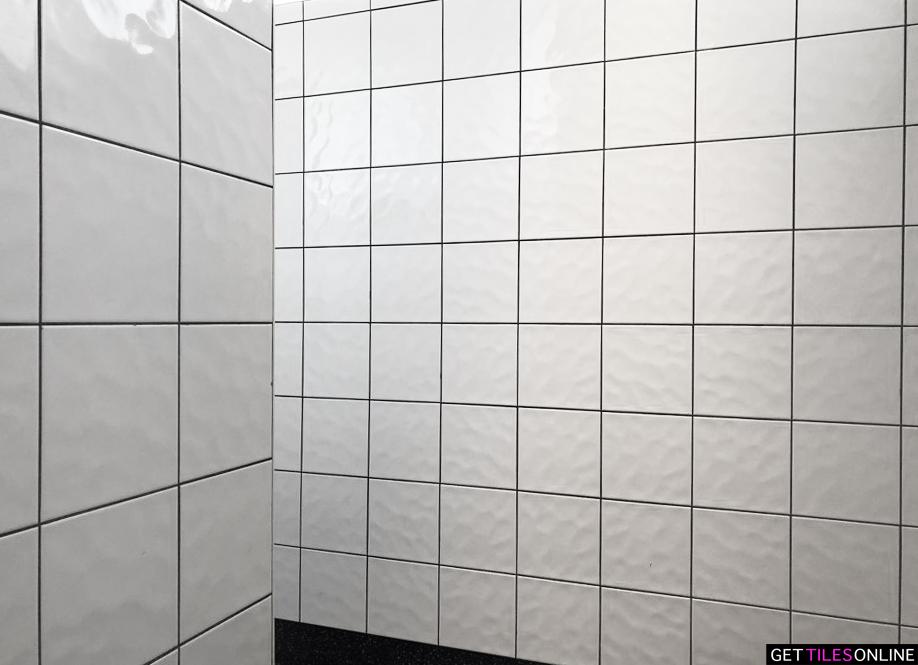 Wavy Gloss White 200x200 Code 00216 Get Tiles Online