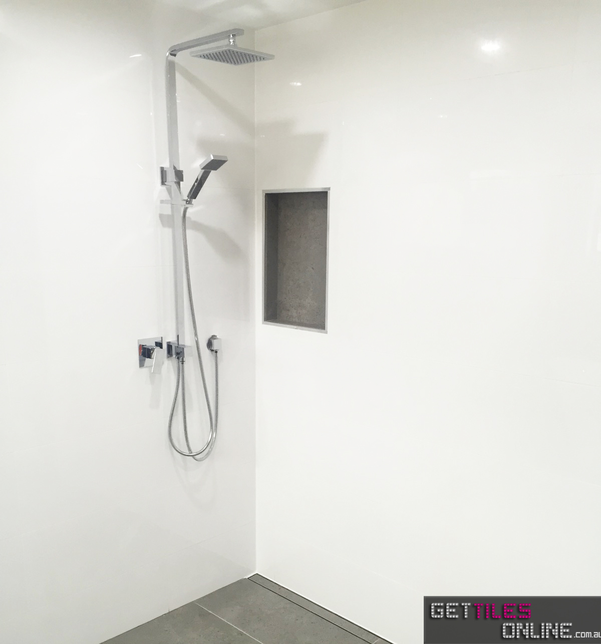 Cheapest 300x600 White Gloss Tile for Wall - $10/m2 | Get Tiles Online