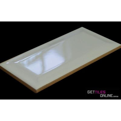 Wizard Gloss White Bevelled 75x150 Code 00603 Get