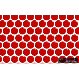 Red Gloss Penny Round 19mm (Code:00891)