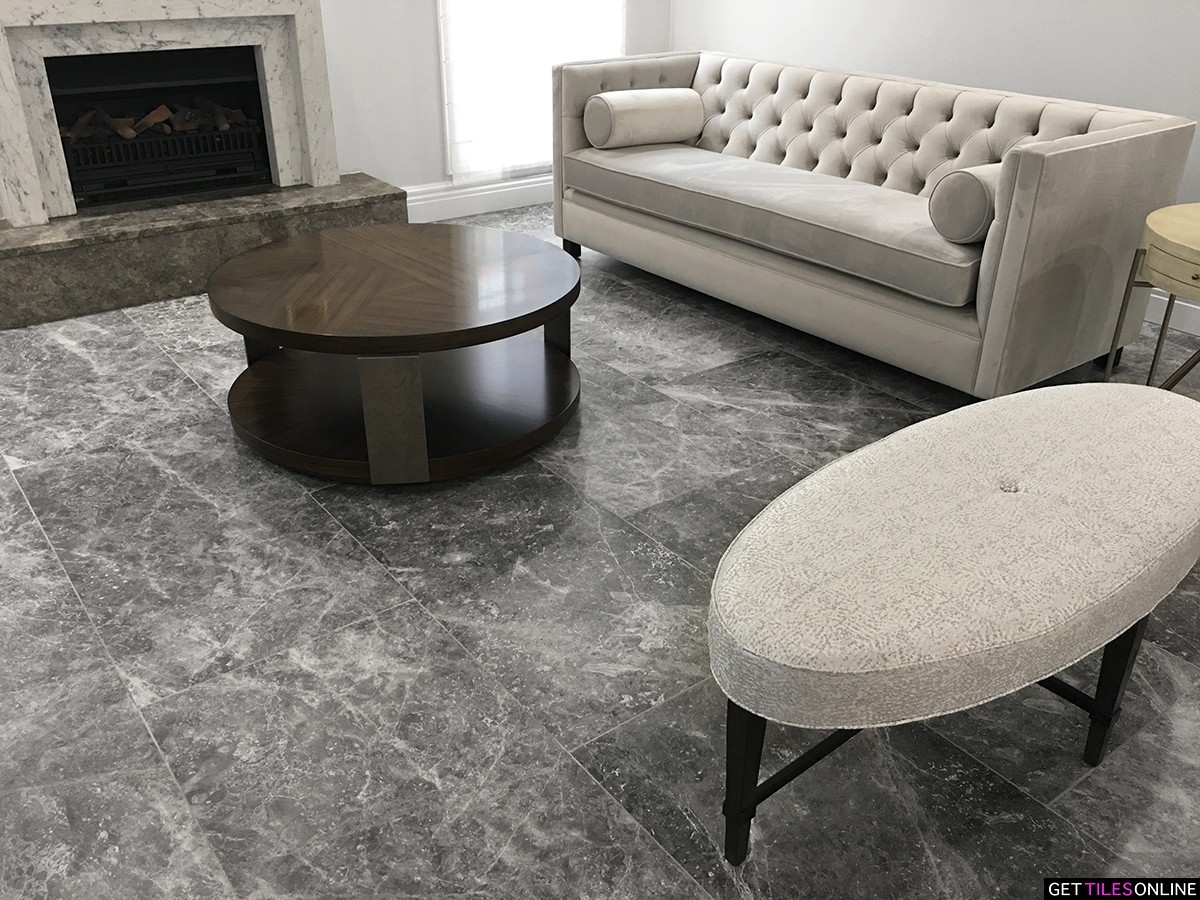 Baltic Grigio Marble Honed 600x600 (Code:01619)