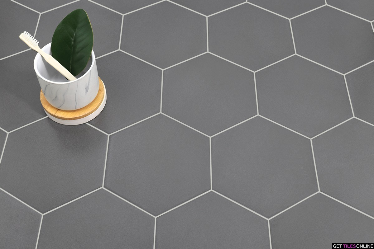 Hexagon Grey Matt 180x200 (Code:01808)
