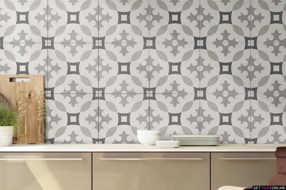 Newtown 711 Porcelain Pattern Tile 200x200 (Code:01912)