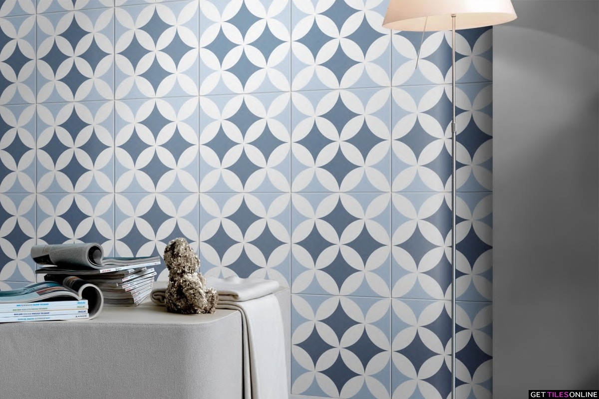 Newtown 713 Porcelain Pattern Tile 200x200 (Code:01911)