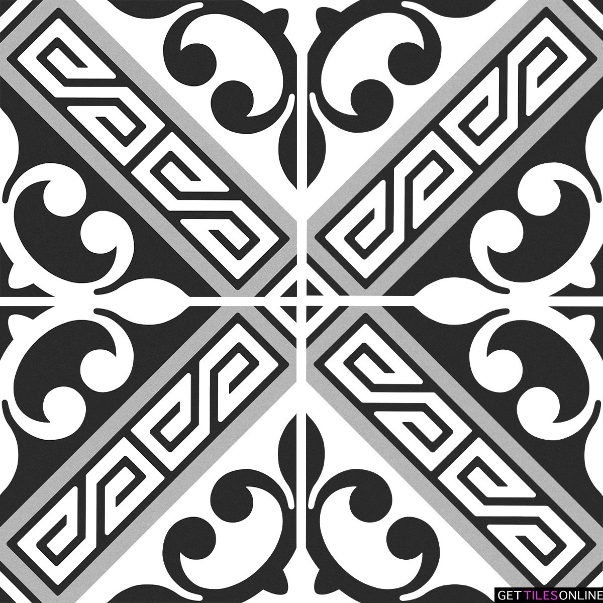 Newtown 714 Porcelain Pattern Tile 200x200 (Code:01913)