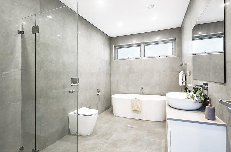 Nice Concrete White semi-polished 450x900 / 900x900 (Code:00838)