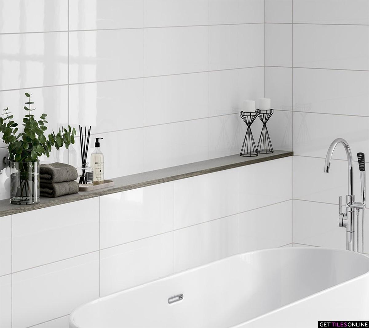Premium White Gloss Wall 300x600 (Code:01914)