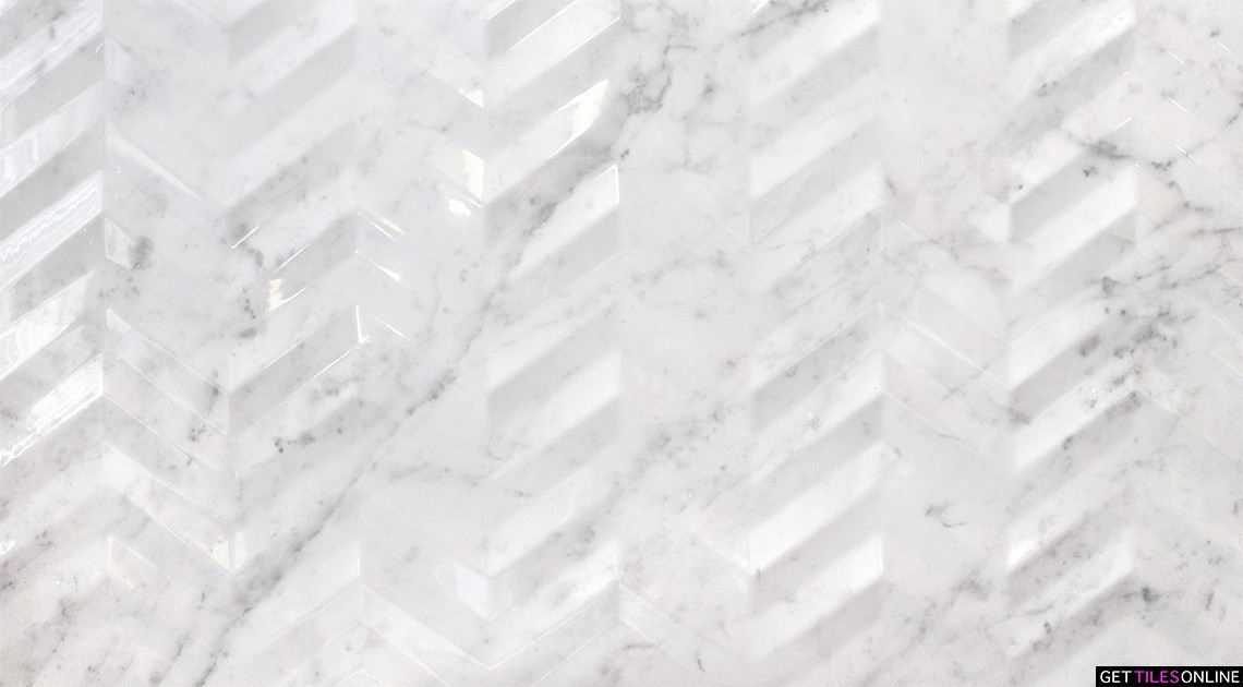 Reveal Carrara Chevron 3D 315x570 (Code:02110)