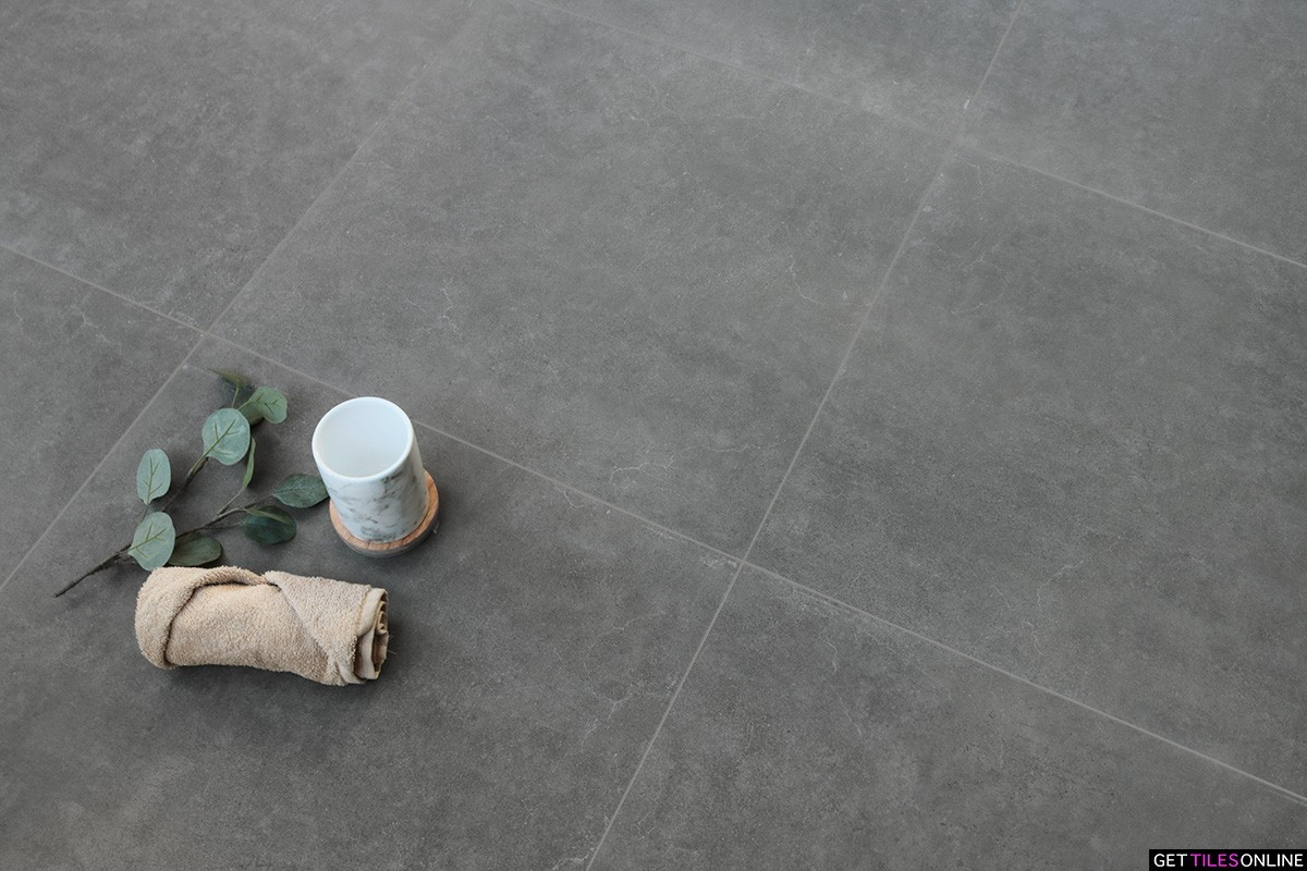 Soft Concrete Dark Grey Matt 300x300 / 300x600 / 600x600 (Code : 01758)