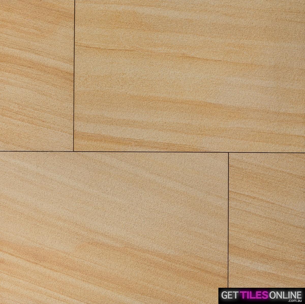 Teak Sandstone Sandblasted 400x600x20 (Code : 01290)